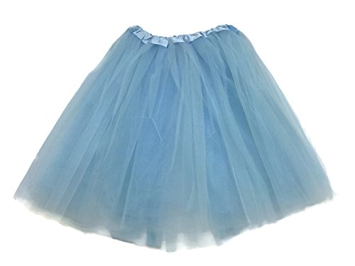 Rush Dance Women's Costume Ballet Warrior 5K, 10K Fun Dash Run Adult Tutu (Adult, Cinderella Blue)