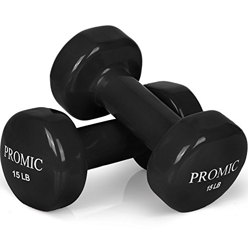 PROMIC Weights Deluxe Coated Dumbbells