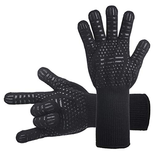 DsFiyeng BBQ Gloves Grill Gloves Oven Gloves 932°F for Cooking, Grilling, Baking- Grill & Kitchen Accessories by DsFiyeng