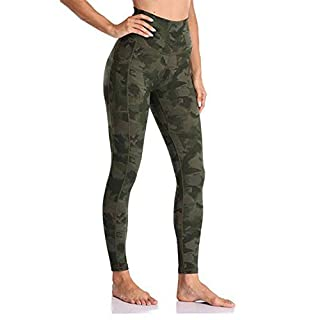 Generies High Waisted Yoga Leggings with Pockets Tummy Control Yoga Pants for Women (ArmyGreen, XL)