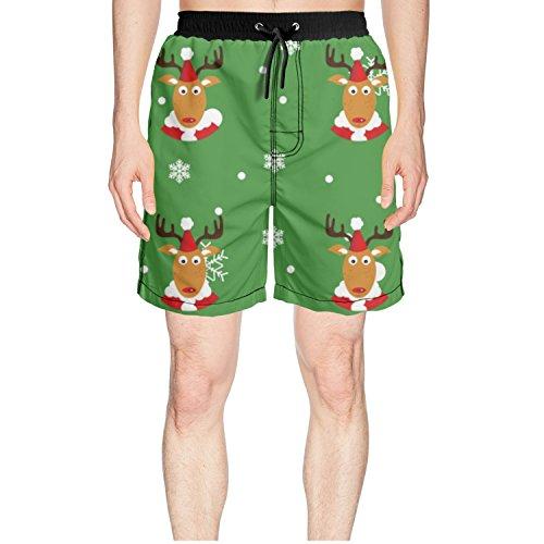 Baldwin Christmas Ornaments (Godfer Arabe Christmas Snowflake Men's Beach Board Shorts Swim Trunks)