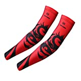 (US) Fantastic Zone UV Protection Arm Sleeves for Men Women, Digital Printing Arm Warmers for Cycling Running Hiking Fishing Tennis Golf Baseball Basketball and Outdoor Fitness Activities