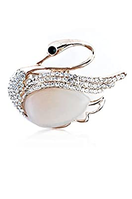 NickAngelo's Swan Brooch For Women Elegant Fashion Jewelry Affordable Lovely Design