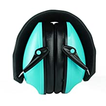ECHI Kid Hearing Protection Ear Muffs, Foldable Ear Defenders for 6 Months to 4 Years Old (Sky Blue)