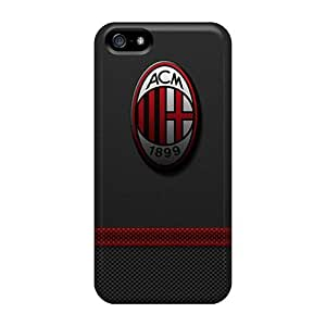 Iphone 5/5s Hard Back With Bumper Silicone Gel Tpu Case Cover Ac Milan 3