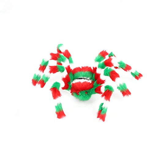 Gbell Colorful Spider Halloween Party Decoration Indoor Outdoor Scary, 1Pcs Haunted House Prop for Masquerades, Balls, Costume Parties, Mardi Gras and More,50CM/60CM/75CM/90CM Spider Toys]()