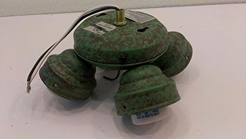Light Turtle Fixture (4 Bulb Verdigris Green Turtle Fitter Fan Light Kit Fixture)