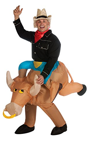 Funny Inflatable Costumes (Rubie's Costume Inflatable Bull Rider, Multicolored, One Size)
