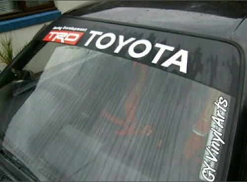 Toyota Racing Development TRD Windshield Sun Visor Strip Decals Cars Stickers Banners