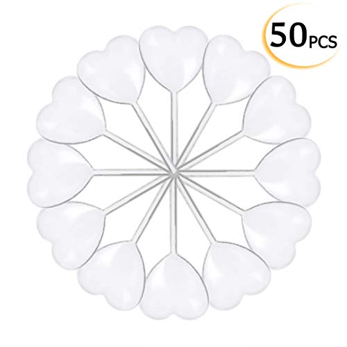 50pcs 4ml Heart Shaped Disposable Plastic Squeeze Transfer Oils Pipettes Dropper for Cupcakes, Ice Cream, Chocolate, Strawberries