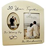 Double 30th Pearl Wedding Anniversary Photo Frame by A1Gifts
