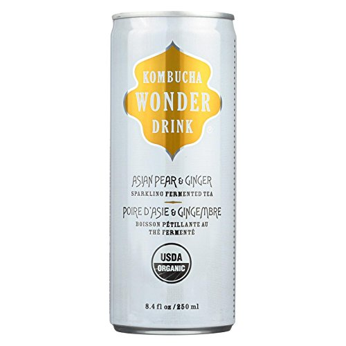 KOMBUCHA WONDER Organic Asian Pear Ginger Tea, 8.4 FZ