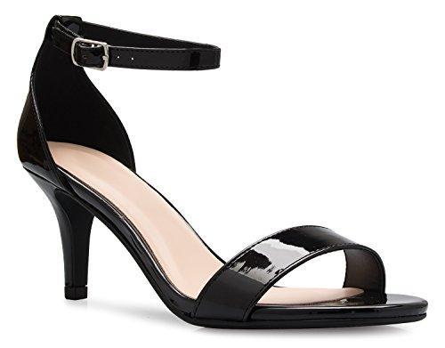 OLIVIA K Womens Adorable Low Heel Sandals - Open Toe Design With Adjustable Buckle