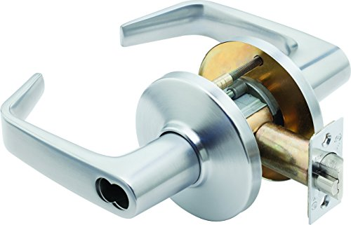 Stanley 9K37S15DSTK626 Best Access Systems 9K Series Communicating Cylindrical Lock, Contour Angle Return with Lever Design (15), Satin (Brass Communicating Lock)