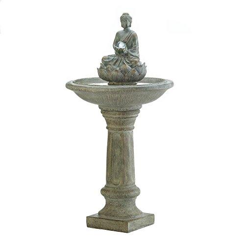 - Garden Water Fountain, Outdoor Buddha Pedestal Water Fountain for Backyard