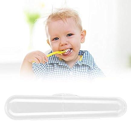 Estuche de almacenamiento de cuchara de silicona para bebé, Caja de Almacenamiento Cubiertos Estuche de Viaje para Cuchara Tenedor: Amazon.es: Bebé