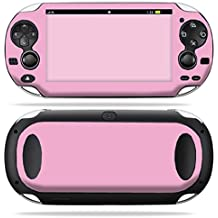 MightySkins Protective Vinyl Skin Decal Cover for PS Vita PSVITA Playstation Vita Portable wrap sticker skins Solid Pink