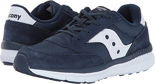Saucony Jazz Lite Lace Sneaker (Little Kid/Big Kid), Navy/White, 6 Medium US Big Kid
