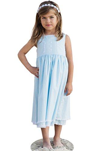 Strasburg Children Girls' Cape COD Summer Dress Lace Embroidery Flower Girl (4, Light (Heirloom Four Light)