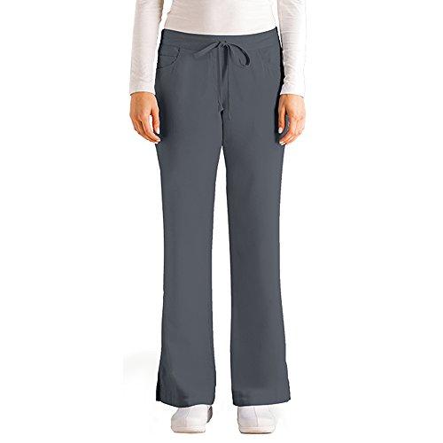 greys-anatomy-womens-junior-fit-five-pocket-drawstring-scrub-pant-small-granite