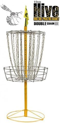 イエロージャケットハイブダブルチェーン24チェーンポータブルディスクバスケットゴルフターゲット