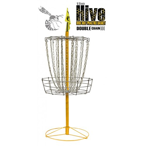 Yellow Jacket Hive Double Chain 24 Chain Portable Disc Golf Basket Target by Yellow Jacket