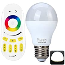 E27 SMD-5050 LED 6W Dimming RGB Bulb Light with RGBW Remote Controller (450LM AC86-265V 50/60Hz)