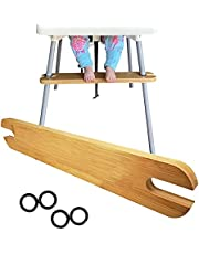 High Chair Footrest,Non-Slip Adjustable Natural Bamboo Wooden Foot Rest,Adjustable Height Natural Bamboo Baby Highchairs Pedal, Suitable for IKEA Antilop High Chair Footstool