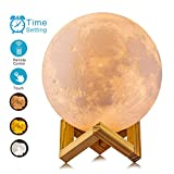modern bedroom ideas ACED 3D Printing 4.7Inch Moon Light Lamp Baby Night Light, Dimmable Color Changing, Touch Battery Operated LED Moonlight Lamps for Bedrooms, Father's Day Gifts, Cool Christmas Gifts for Kid Teens