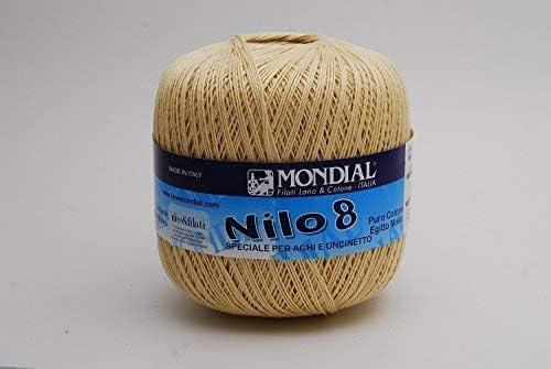 Mondial NILO - Hilo de crochet de algodón egipcio, talla 8-466 ...