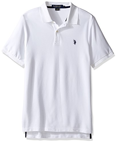 U.S. Polo Assn. Men's Ultimate Pique Polo, White, S ()