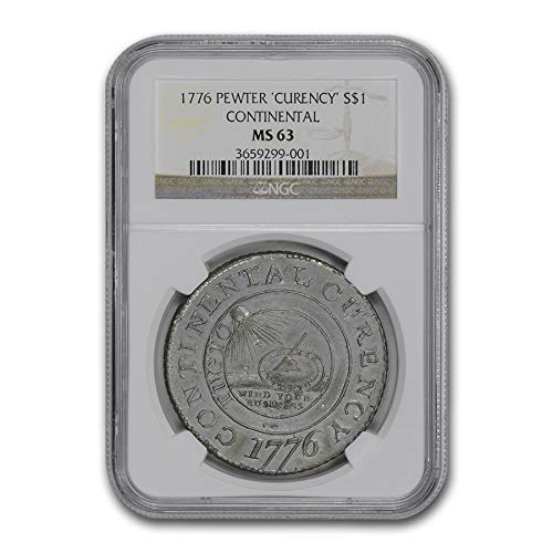 1776 Continental Curency Dollar MS-63 NGC (Pewter) 1 MS-63 NGC ()