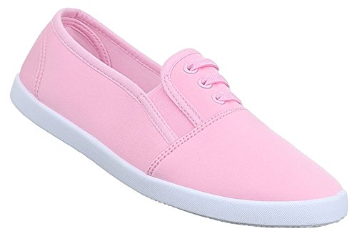 Damen Sneakers Freizeitschuhe Sportschuhe Turnschuhe Runner Schuhe Slipper Loafers Neongelb blau orange rosa 36 37 38 39 40 41 Pink