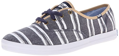 Washed Beach Sneaker Stripe Champion Blue Fashion Keds Women's fvqwxtEvT