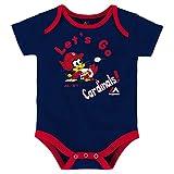 Majestic Athletic St. Louis Cardinals Let's Go Cardinals Infant Onesie Size 12 Months Bodysuit Creeper Navy