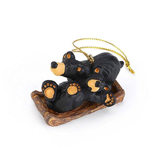 Sledding Bears (Bearfoots Bear Sledding Fun Ornament)