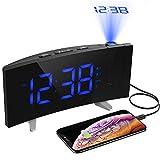 Alarm Clocks, [Upgrade Version] PICTEK HM268 Projection Alarm Clock with FM Radio, 5-inch