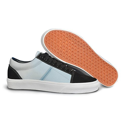 VCERTHDF Print Trendy Geometric Stereoscopic 3d Stylish Low Top Canvas Sneakers