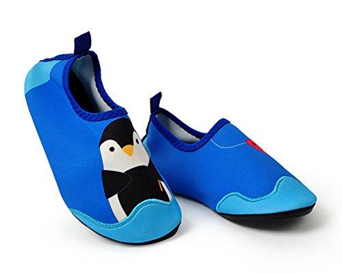 Ozkiz Boys Penguin Aqua Sock Water Shoes Blue X-Small