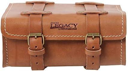 HEPCO & Becker Legacy - Bolso de Piel con 2 Correas, 4 L, Color marrón