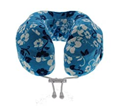 Cabeau Memory Foam Neck Pillow & Travel Pillow w/ Bag - Tropic Evolution Pillow#F344