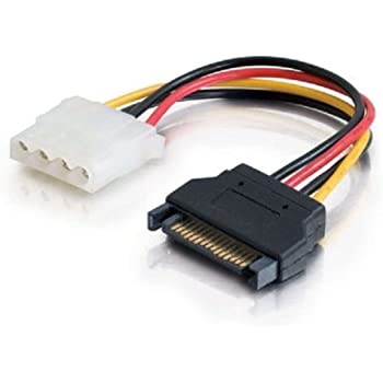C2G/Cables to Go 10149 15-Pin Serial ATA Male to LP4 Female Power Cable -6-Inch