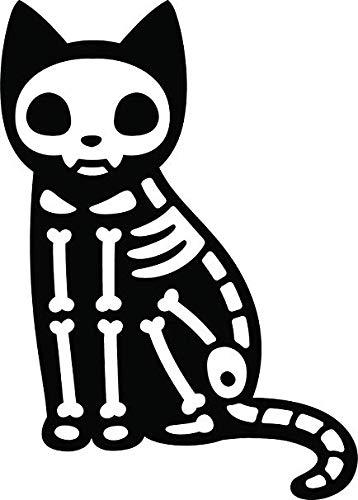 BW MAG Magnet Simple Spooky Halloween Kitty Cat Cartoon Emoji Vinyl Magnet (4