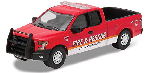 New 1:64 GREENLIGHT HOBBY EXCLUSIVE - RED 2015 FORD F-150 FI