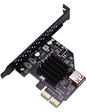 EZDIY-FAB USB3.1 Gen 2 Front Platenaansluiting 20-polige uitbreidingskaart 10 Gbps USB 2.0 PCI Express 3.0 X2-adapter voor desktop-pc's (ASM3142)