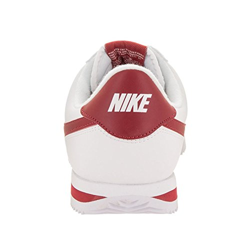 Nike Youth Cortez Basic Synthetic Trainers White Red