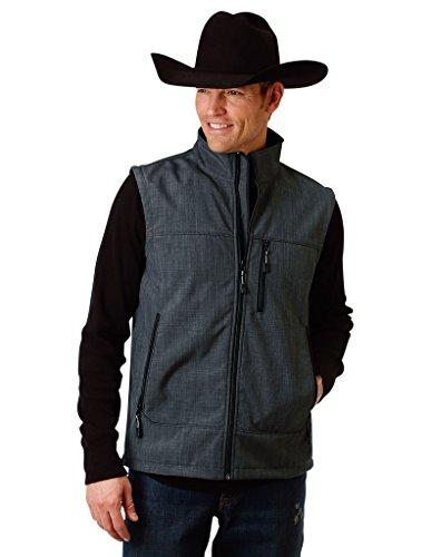 Roper Denim - Roper Men's Grey Bonded Fleece Vest Grey Medium