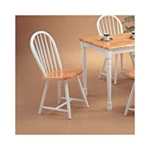 Coaster Home Furnishings 4129 Country Dining Chair (Set of 4), Natural & White