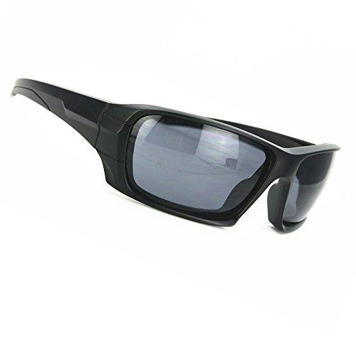 Zuan Mei Men's Polarized Sunglasses Tactical Polarized Army Goggles Sun Glasses For Men Desert Storm War Game Glasses ZM1737 (black, - Sunglasses Military Desert