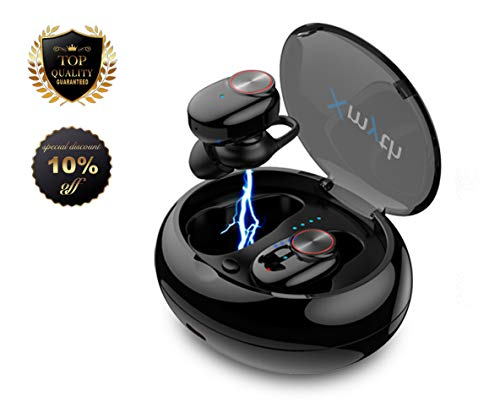 True Wireless Earbuds Bluetooth 5.0, Waterproof Sports Headphones for Running/Gym, Noise Cancelling Earphones with Built-in Mic, 20H Playtime, in-Ear Headset with Charging Case, 3D Stereo HiFi Sound